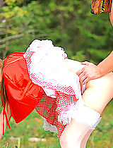 Cute red riding hood fucked hard