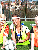 Three soccer playing lesbo teens